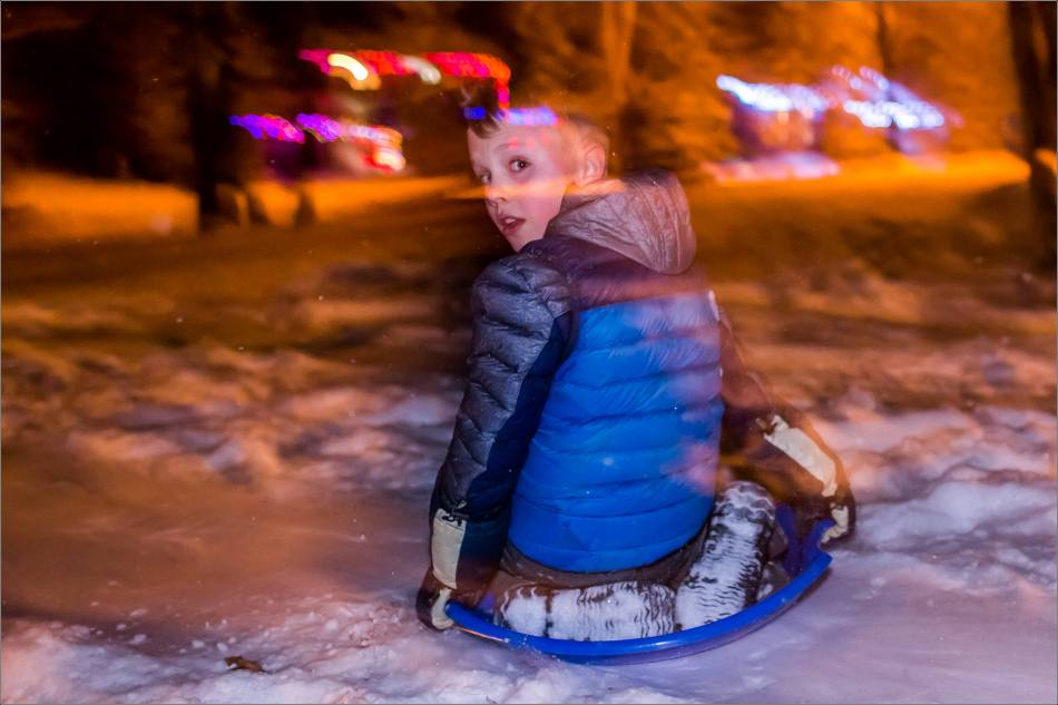 Holiday sledding at night © Christopher Martin-7038