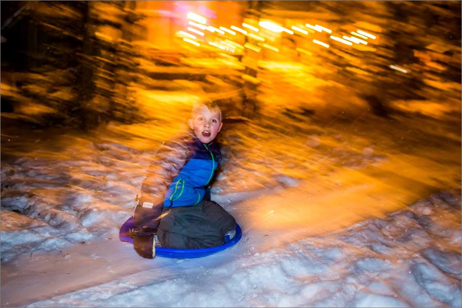 Holiday sledding at night © Christopher Martin-7039