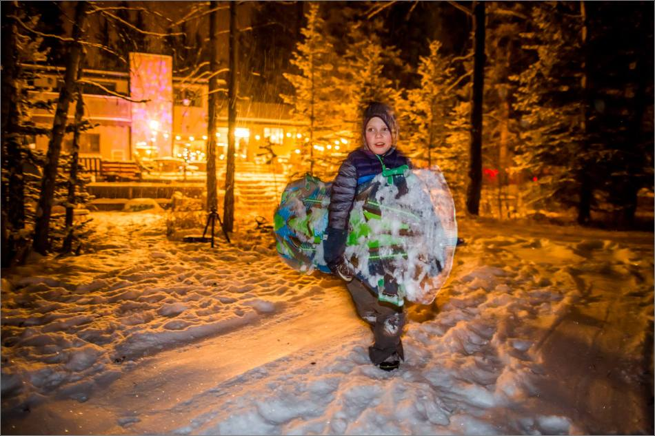 Holiday sledding at night © Christopher Martin-7043