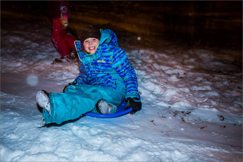 Holiday sledding at night © Christopher Martin-7066