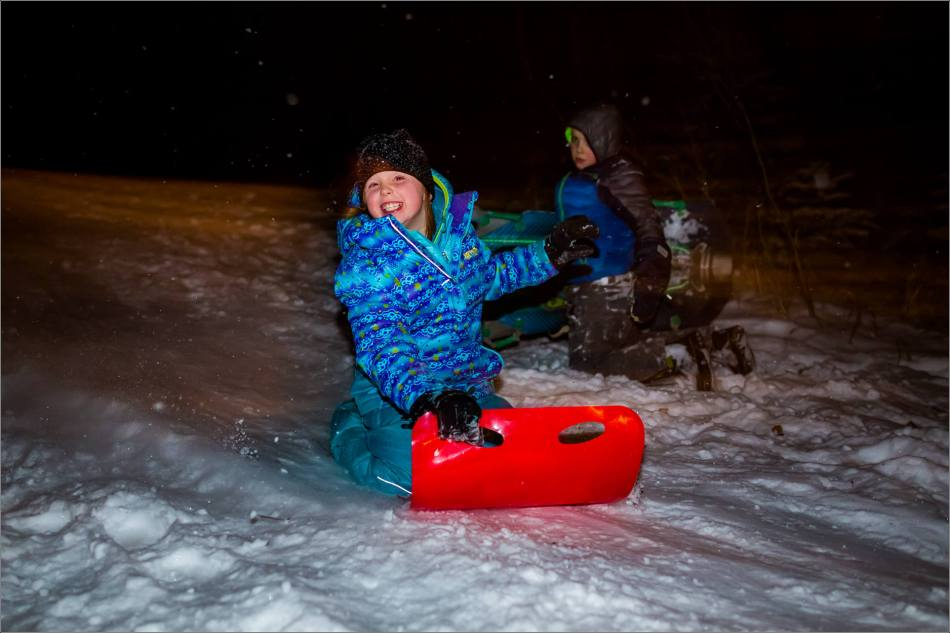 Holiday sledding at night © Christopher Martin-7072