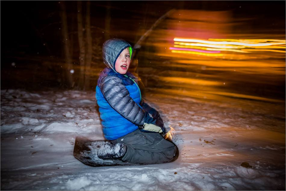 Holiday sledding at night © Christopher Martin-7076