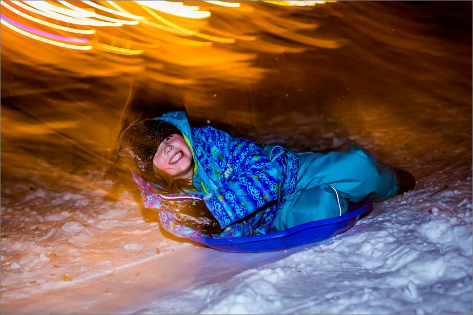 Holiday sledding at night © Christopher Martin-7104