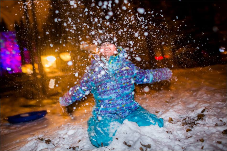 Holiday sledding at night © Christopher Martin-7130