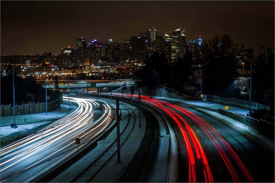 A view of Calgary's downtown at night - © Christopher Martin-0643