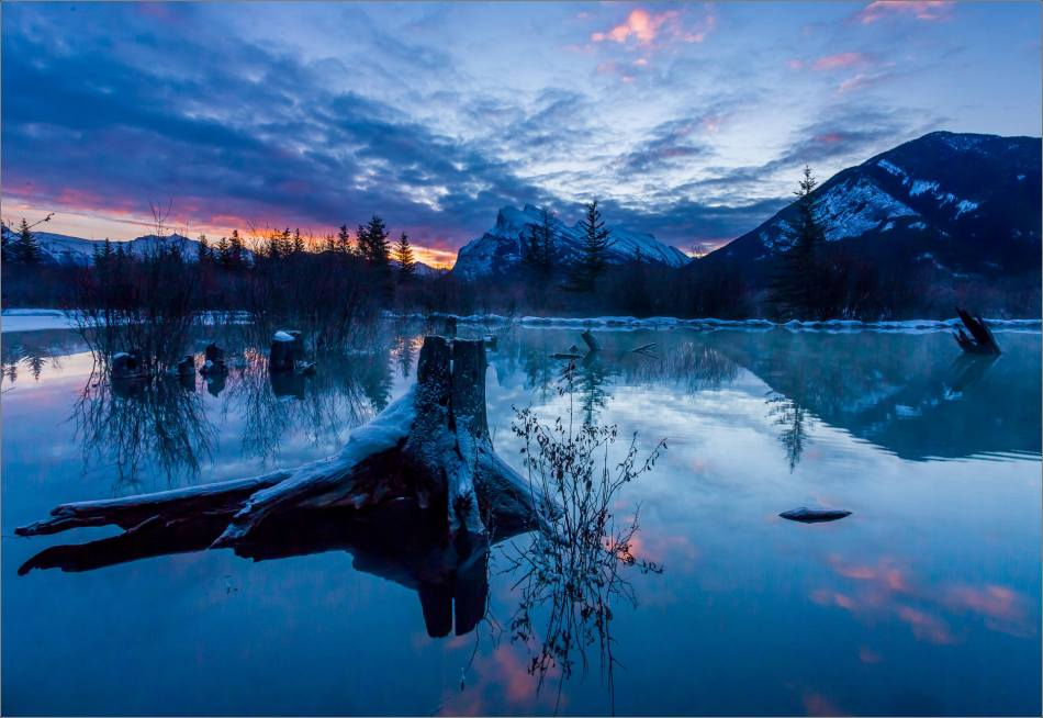 Frozen dawn over the Vermilion Lakes © Christopher Martin-1599-3
