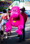 A pink monkey from the Midway at the Calgary Stampede – © ChristopherMartin-2562
