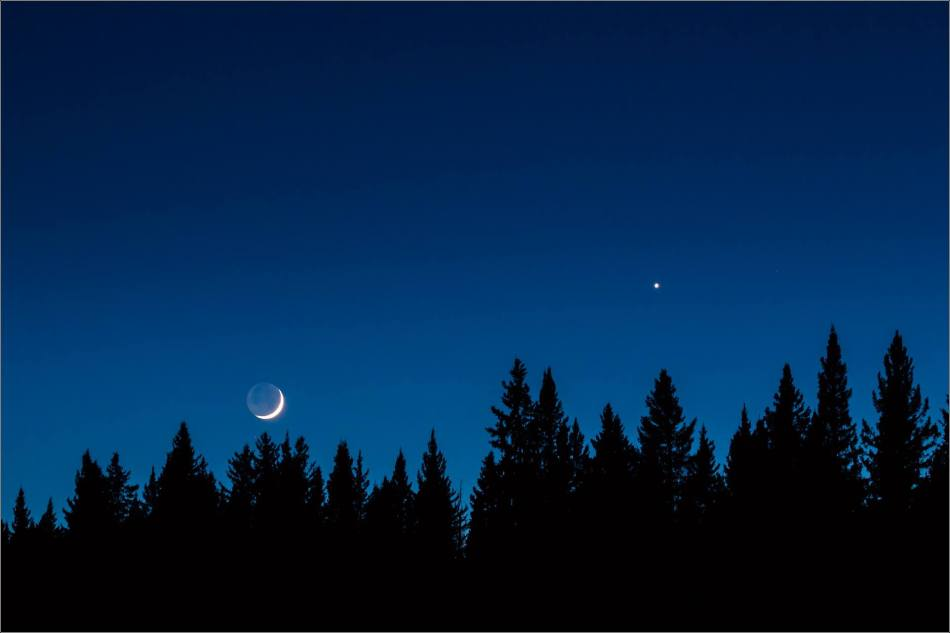 Venus-Moon conjunction in the evening sky | Christopher